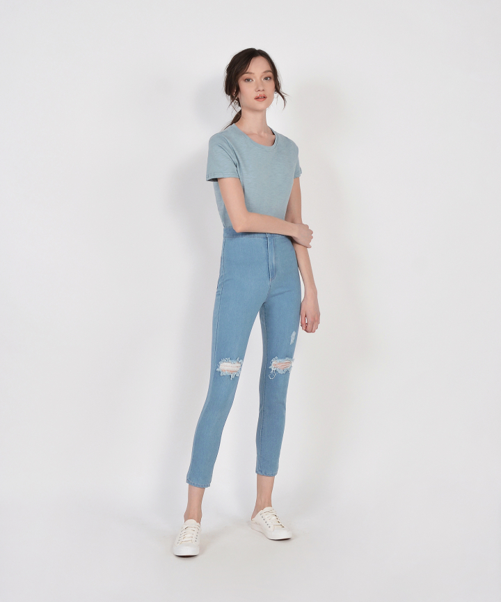 Denver Basic Tee - Mist Blue