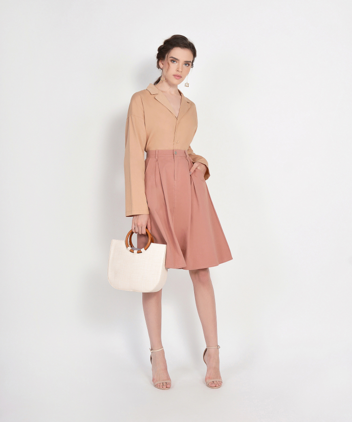 County Midi Skirt - Dusk Rose