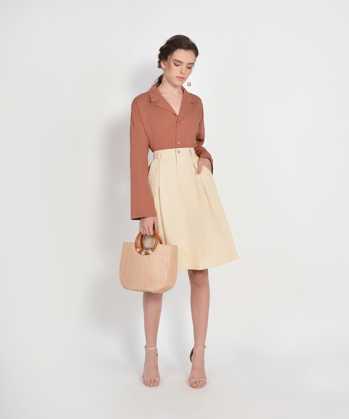 County Midi Skirt - Cream