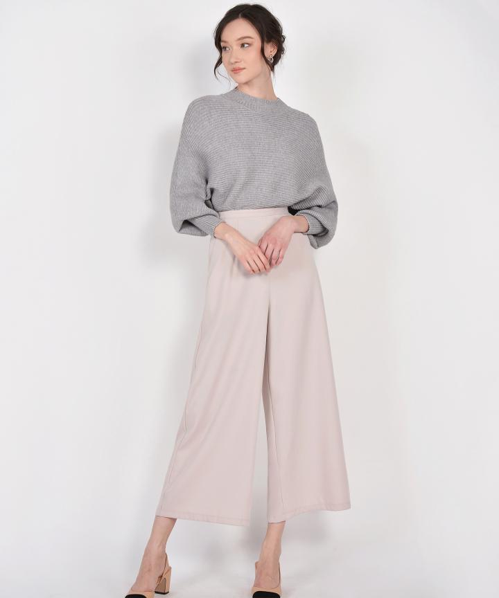Ginny Knit Blouse - Grey