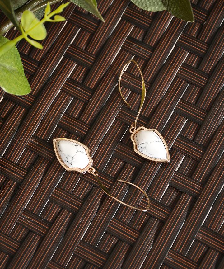 Duel Marble Earrings