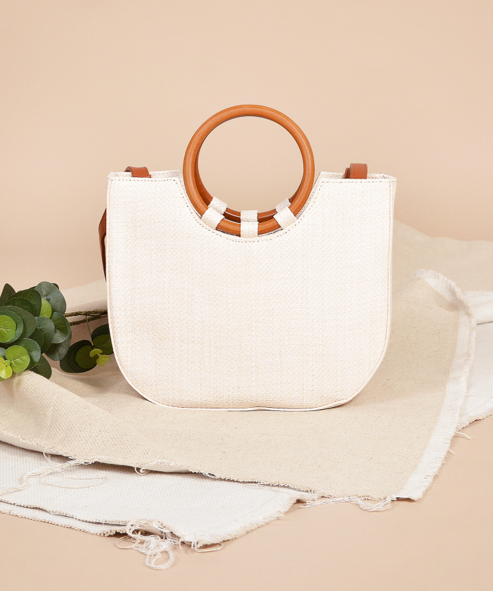 Caribbean Straw Bag - Cream