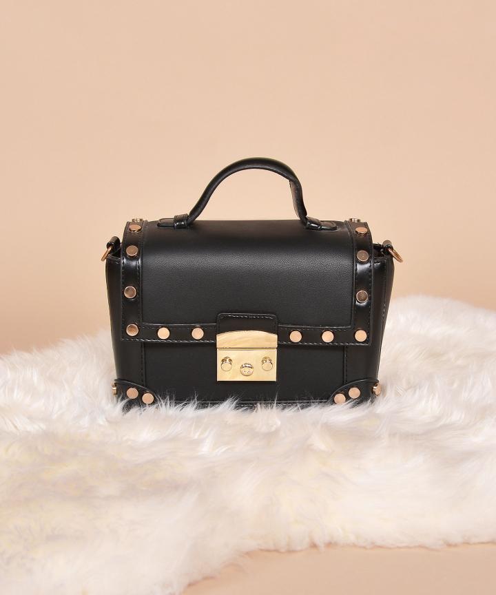 Ricci Stud Bag - Black