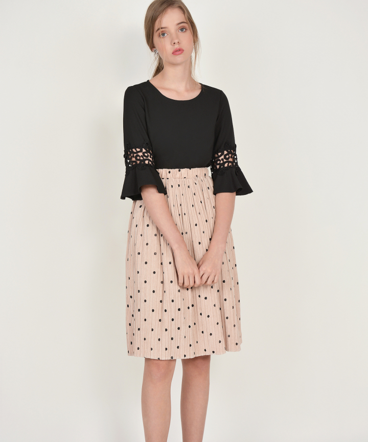 Mocha Polka Dot Skirt