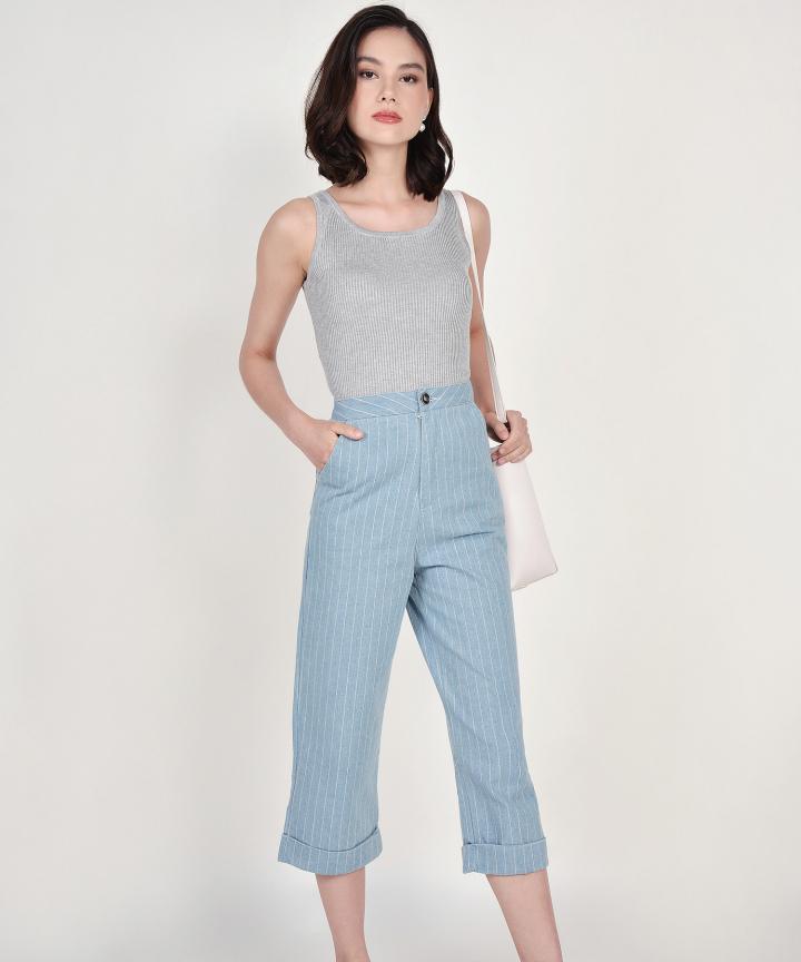 Cassie Knit Tank - Grey