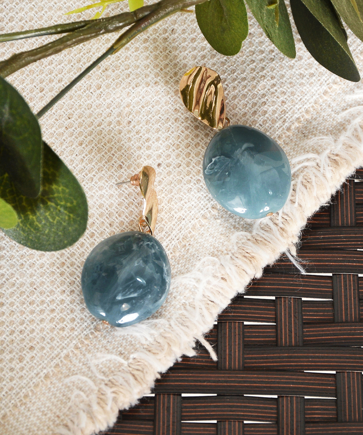 Azra Earrings - Blue
