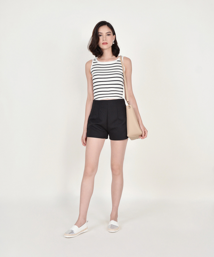 Paige Textured Shorts - Black