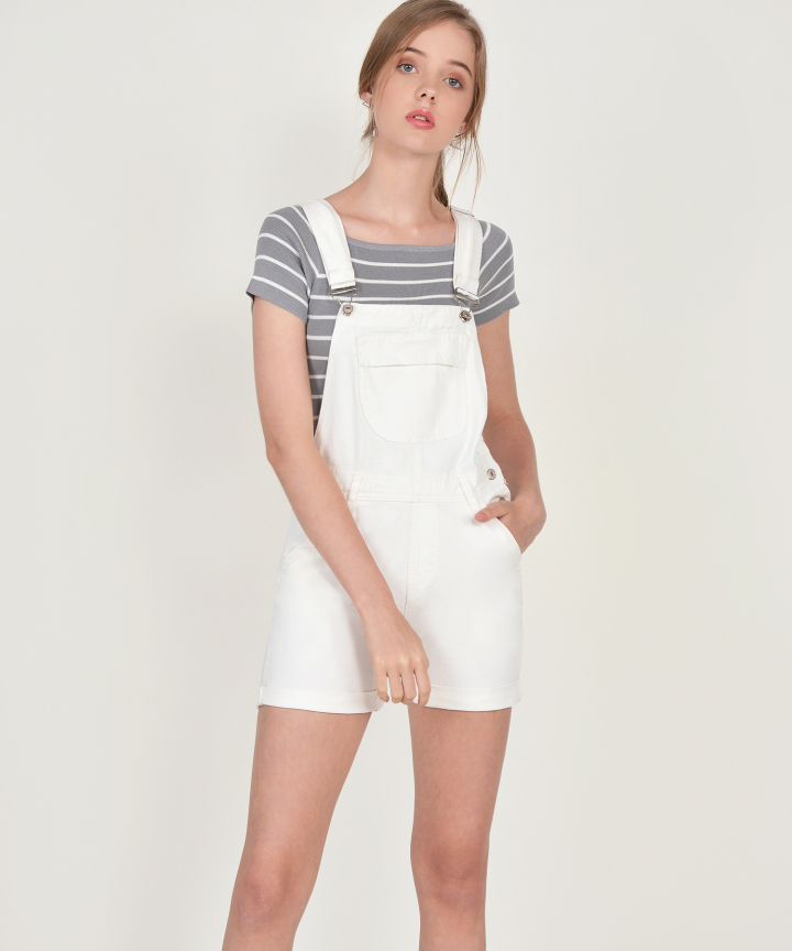 Leroy Striped Knit Tee - Grey