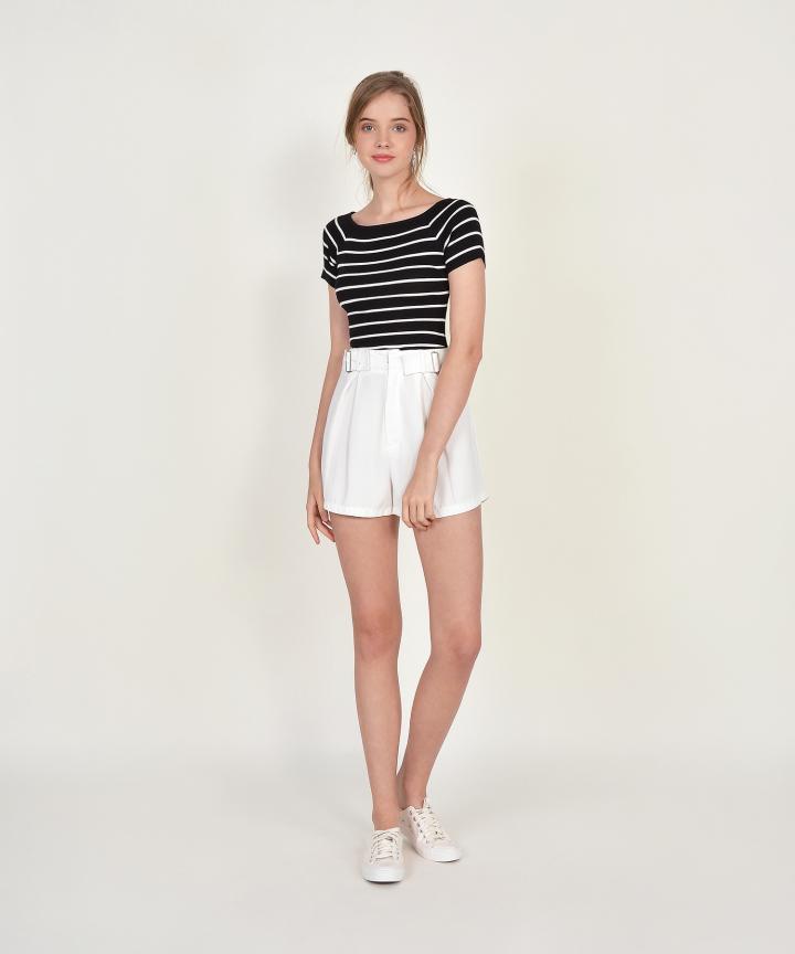 Leroy Striped Knit Tee - Black