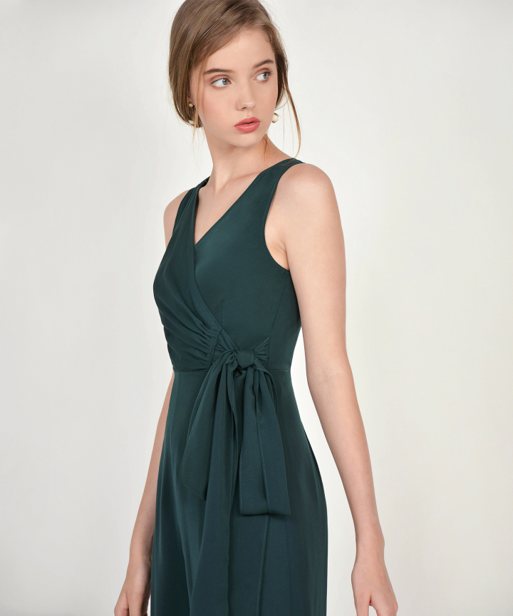Ambrosia Wrap Jumpsuit - Lush Green