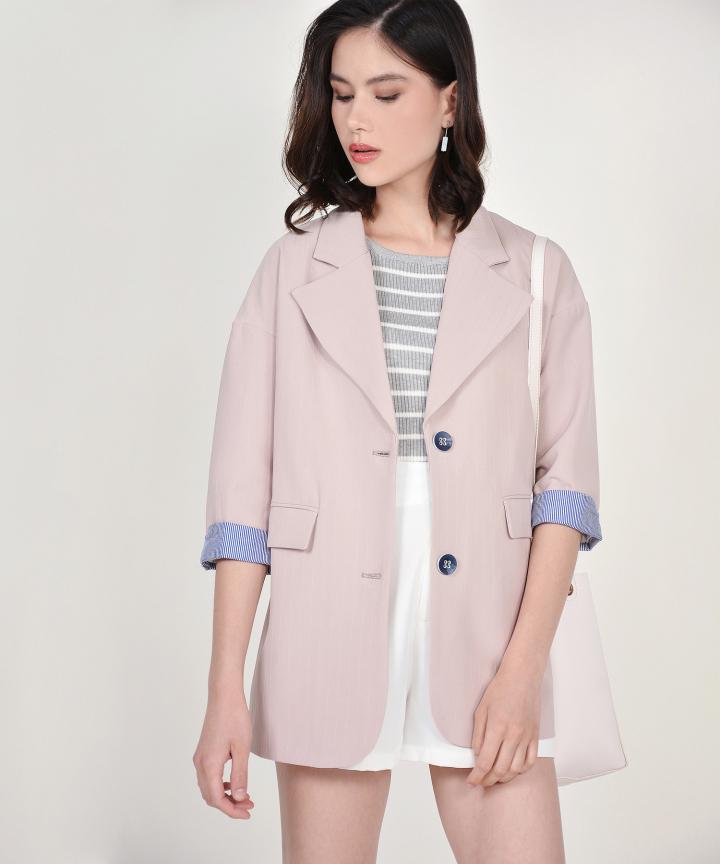 Persephone Essential Blazer - Blush