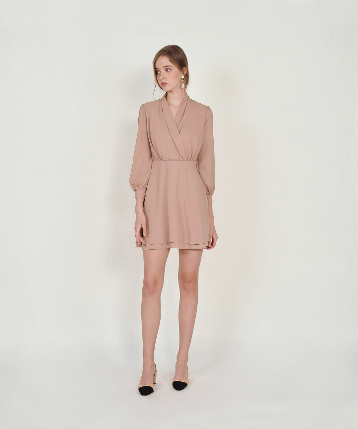 Tjin Overlay Dress - Nude Pink