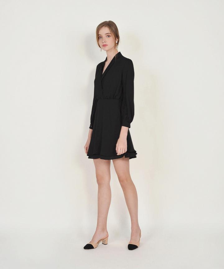 Tjin Overlay Dress - Black
