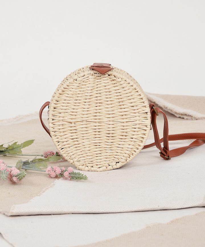 Circular Woven Bag - Cream