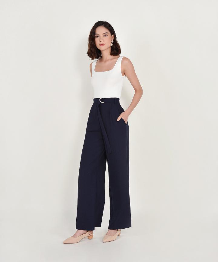 Aimee Knit Tank - White (Backorder)