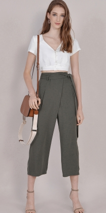 9f966cfef02 Roux Button-down Cropped Blouse - White