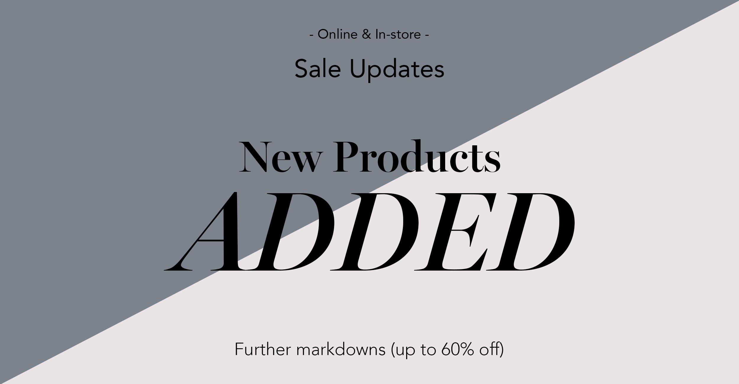 Sale Page update 60% markdown