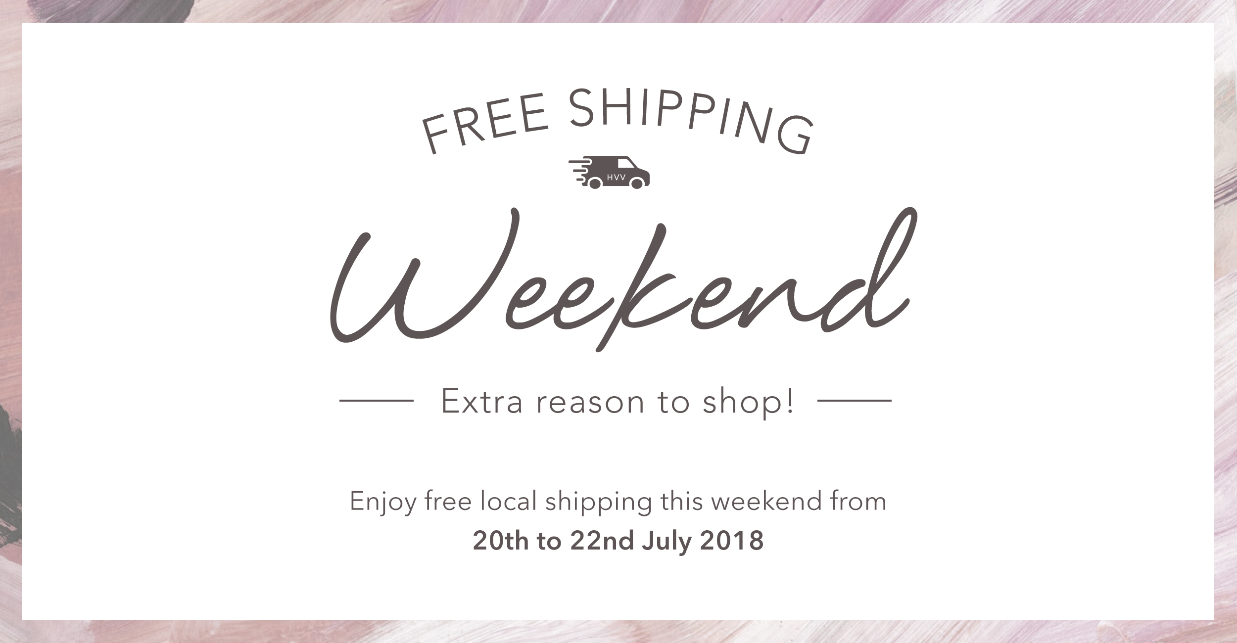 Free Shipping Weekend