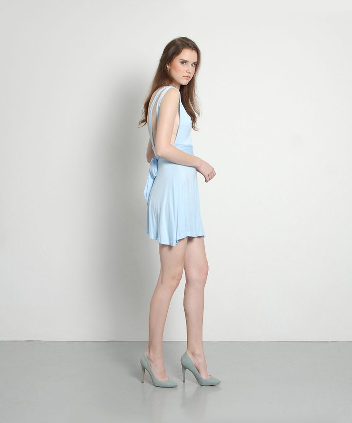 Lattice Pastel Bow Dress
