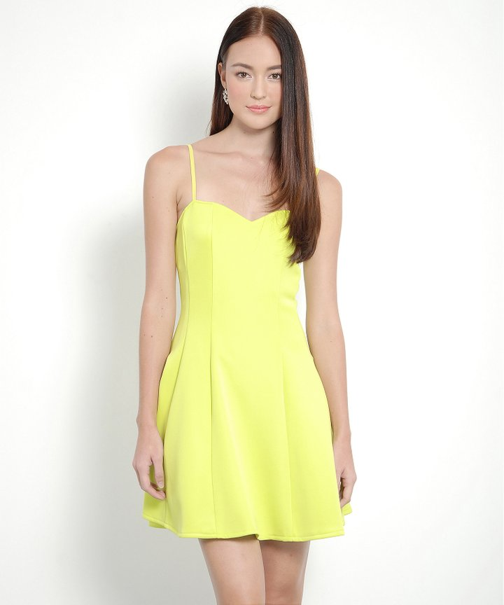 Mary Jane Basic Dress (Lime)