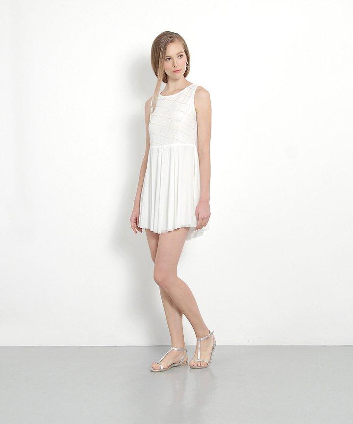 Poise Embellished Mini (White)