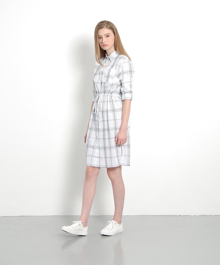 Oxford Checkered Midi (White)