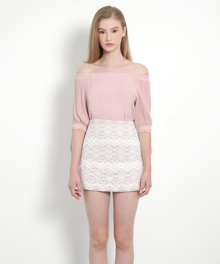 Hyacinth Lace Skirt (Pink)