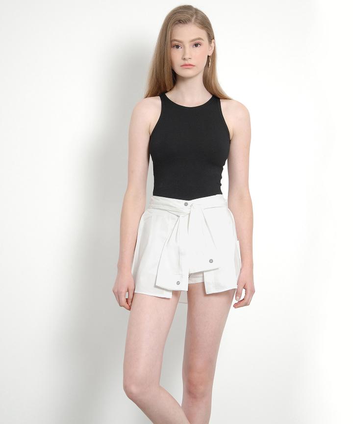 Rhodes Wrap Shorts (White)