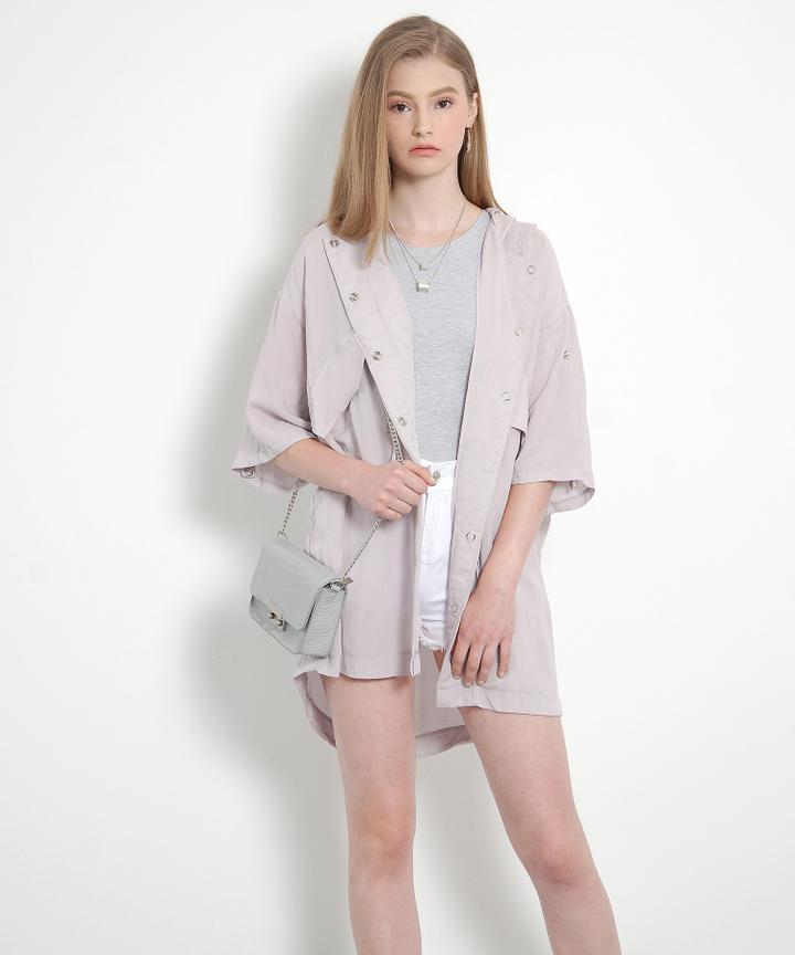 Sloane Pastel Parka (Pale Lavender)