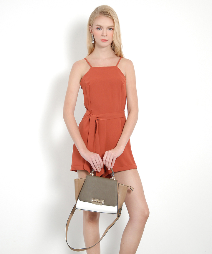 Vine Playsuit (Rust)
