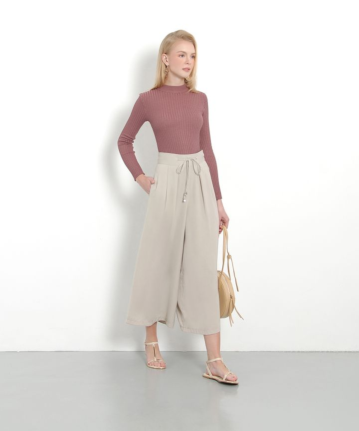 Sage Palazzo Pants - Pebble Grey (Restock)