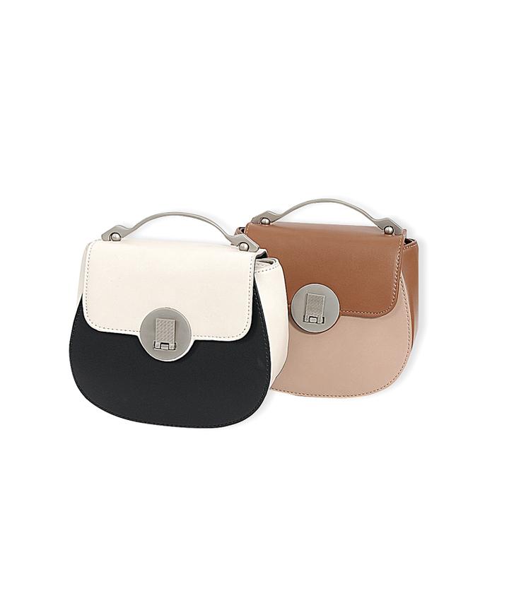 Sachi Contrast Saddle Bag