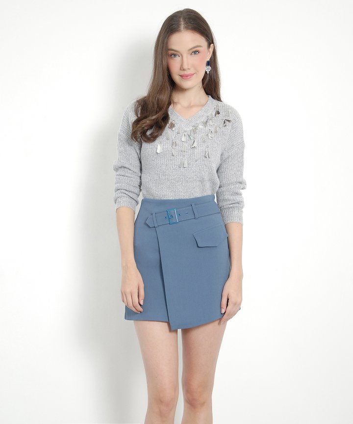 Lumiere Embellished Sweater - Grey