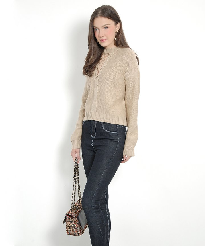 Interlace Sweater - Sand