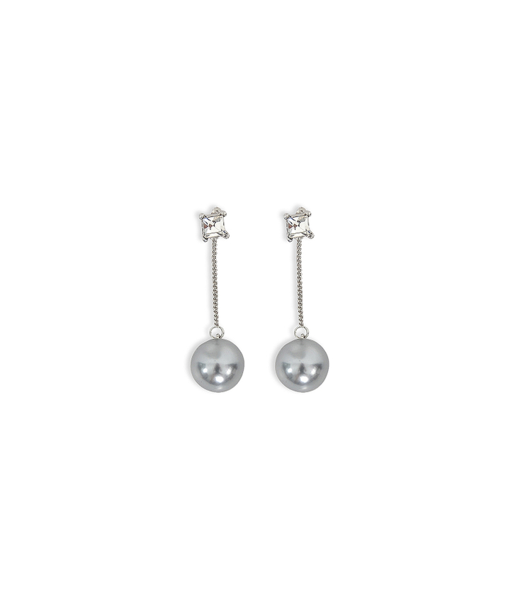 Anthracite Pearl Earrings