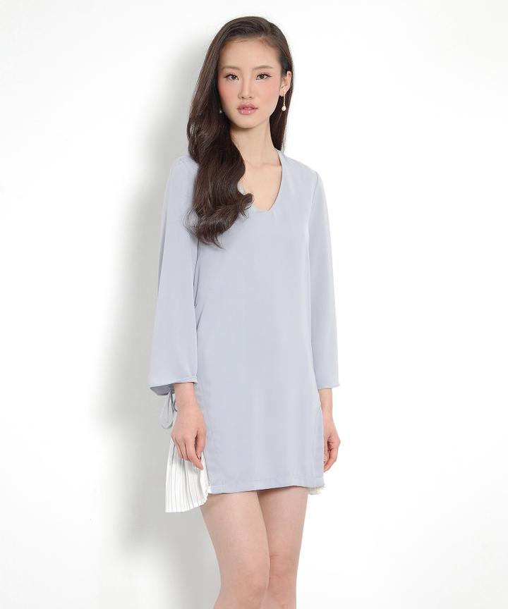 Labyrinth Pleat Dress - Pearl Lilac