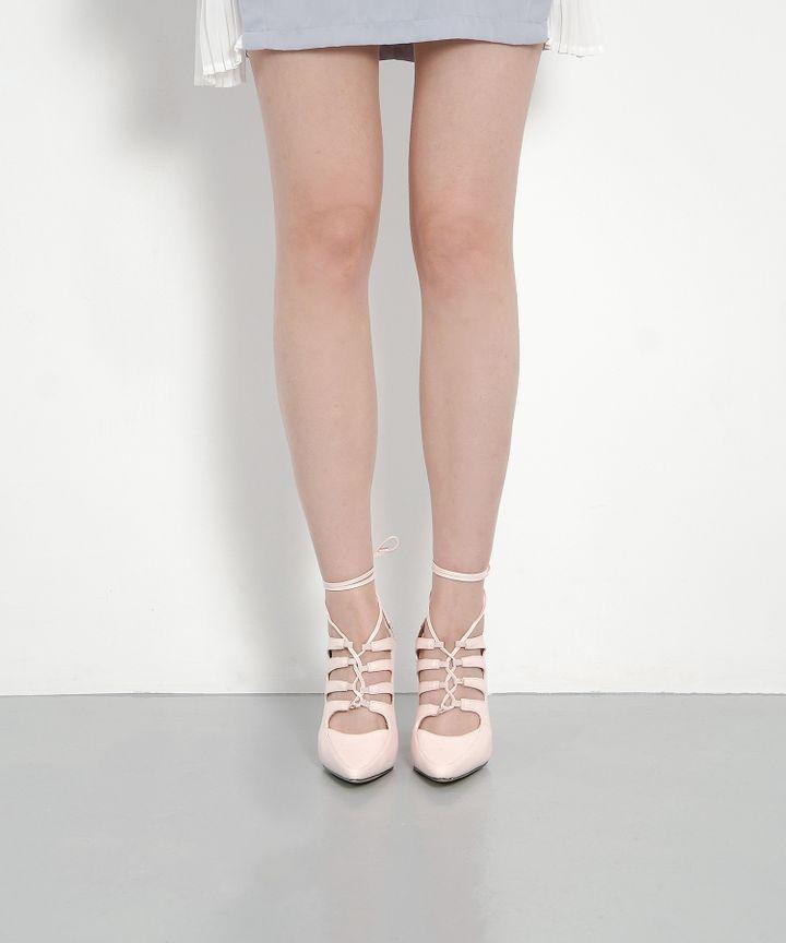 Vivienne Lace Up Heels