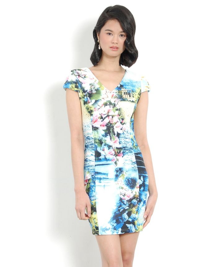 Anthropology Neoprene Dress