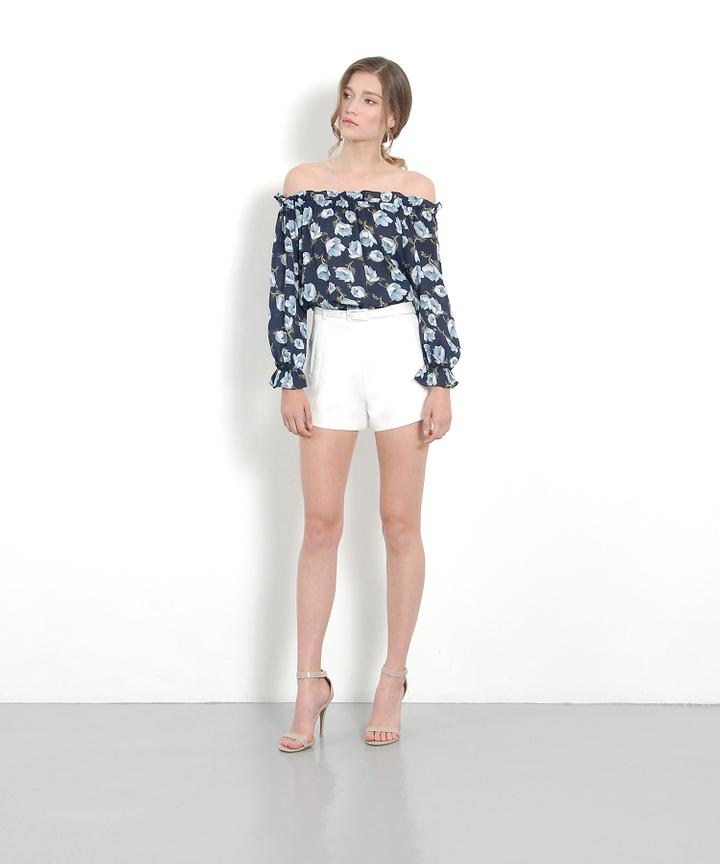 Veranda Belted Shorts - White