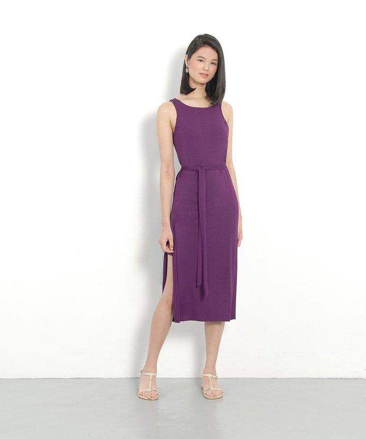 Paradigm Midi Dress - Hyacinth Violet