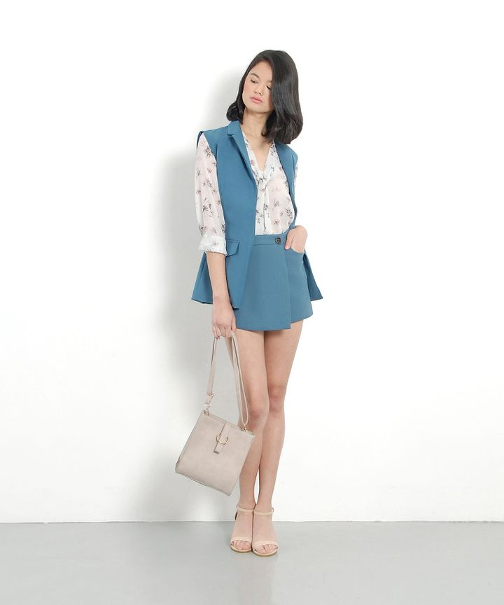 Waverly Tailored Vest - Teal