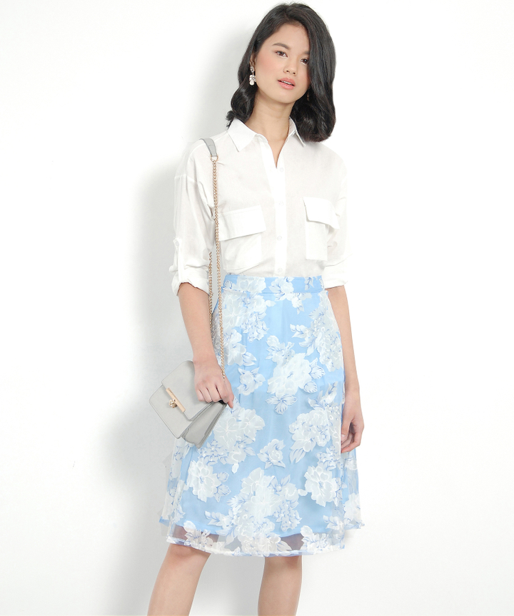Savannah Button-Up Shirt - White