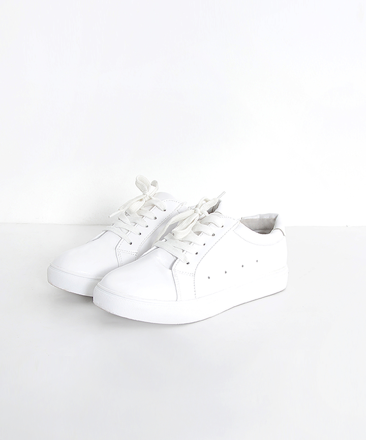 Brooklyn Perforated White Sneakers