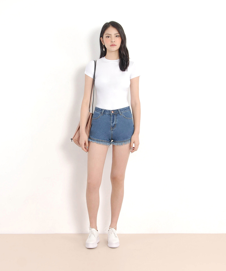 Halle Fitted Tee - White