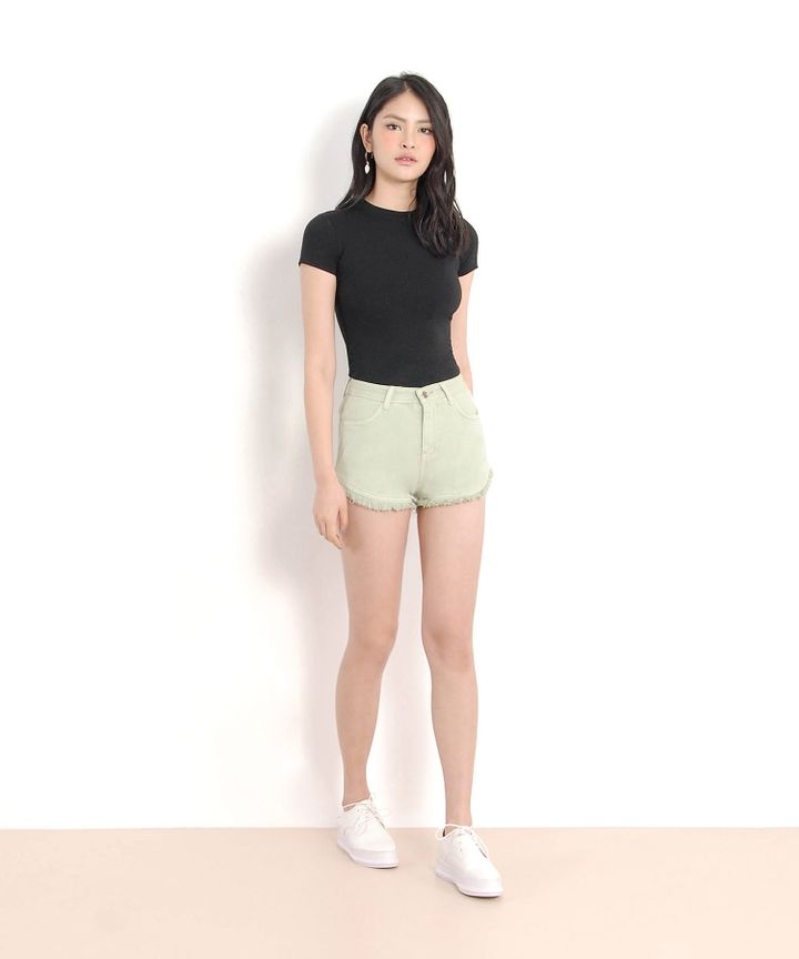 Riley Denim Shorts - Mint