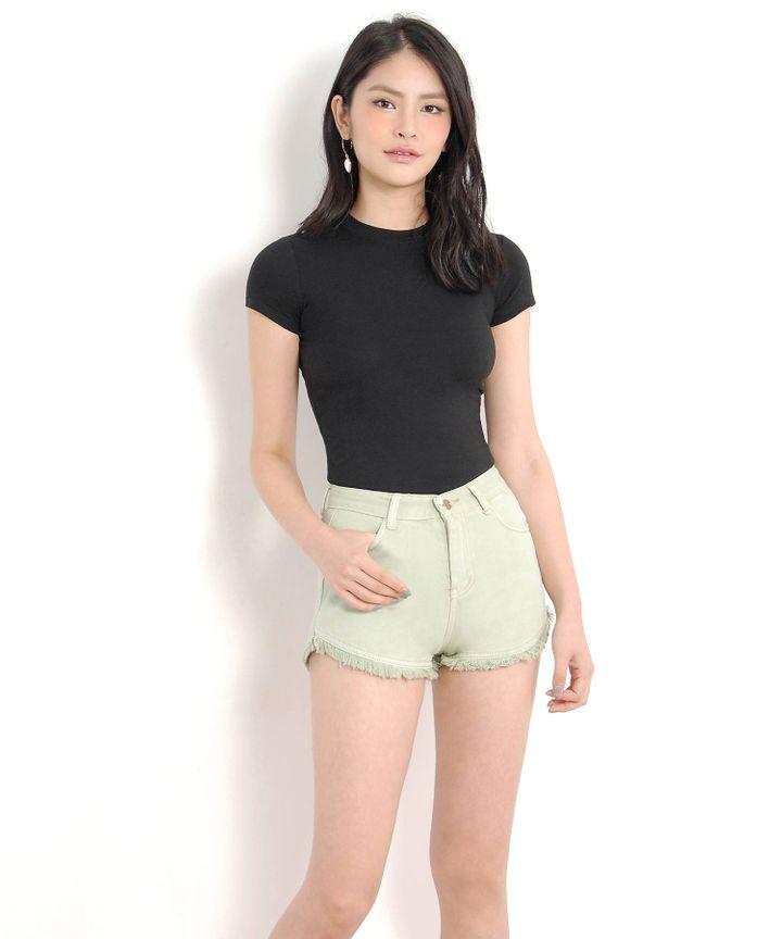 Riley Denim Shorts - Mint