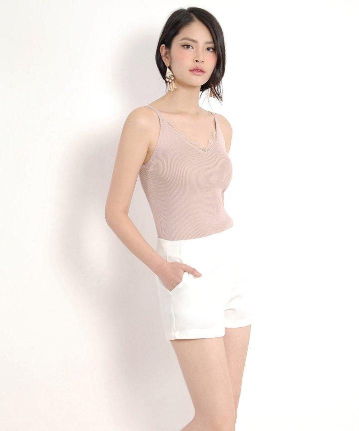 Valentine Lace Top - Dust Pink (Restock)
