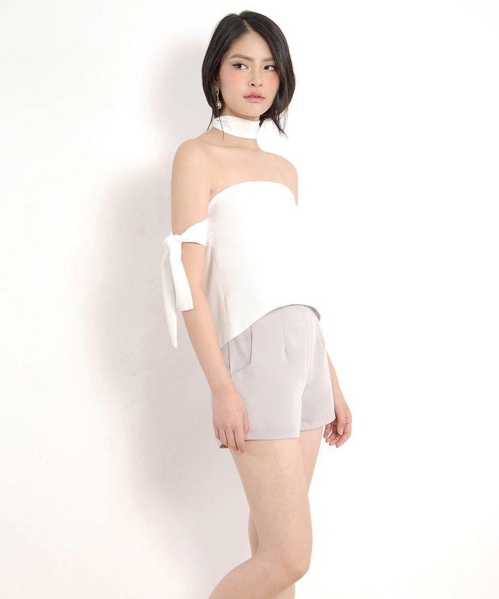Lou Off-Shoulder Blouse - White
