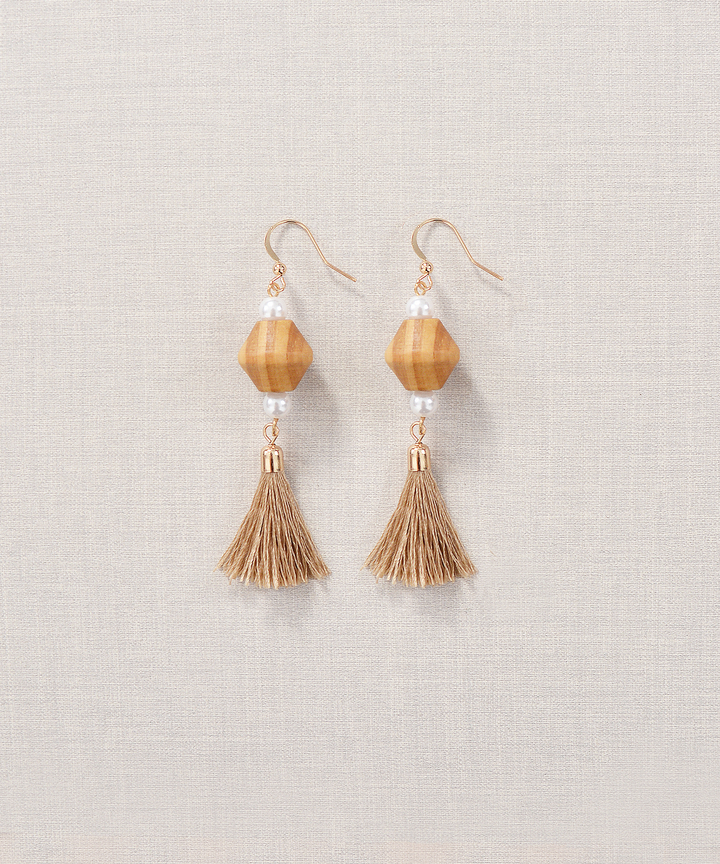 Hazelnut Tassel Earrings (Restock)
