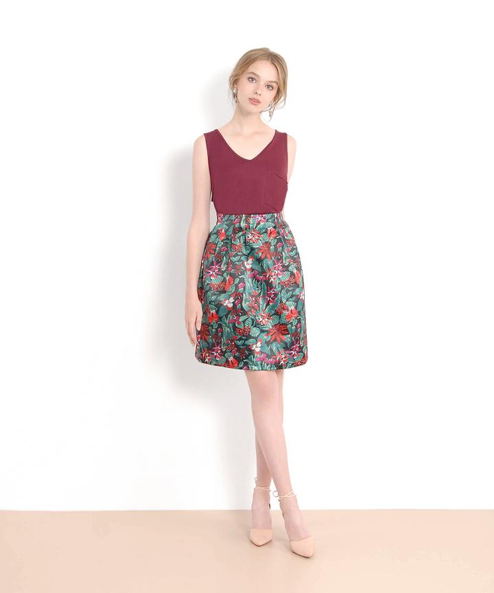 Floral Lantern Skirt